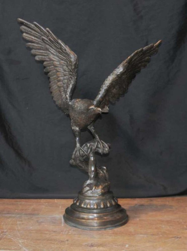 XL Bronze Casting American Golden Eagle Birds Prey Statue Casting