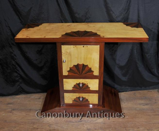 Art Deco Hall Table Chest Drawers Cabinet 1920s Inlay
