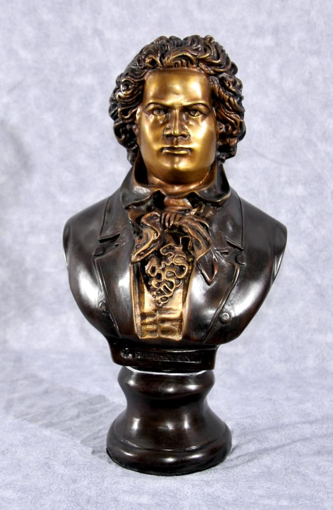 Bronze Bust Beethoven Romanic German Music Composter Statue