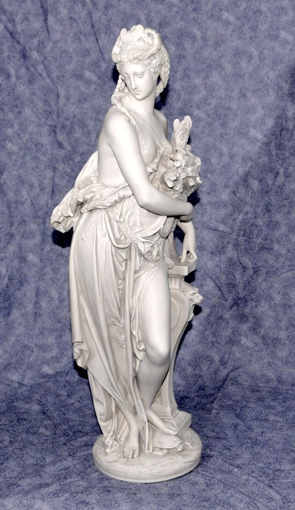 Classical Italian Stone Figurine Dilettanti Muse by Carrier
