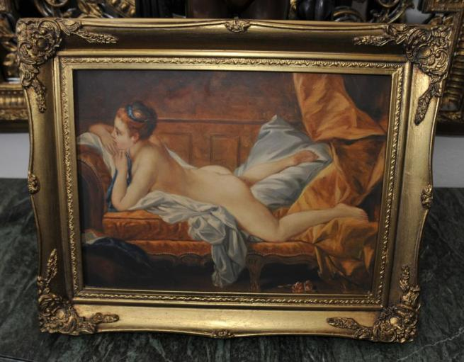 English Oil Painting Nude Female Odalisque Signed R Wilson