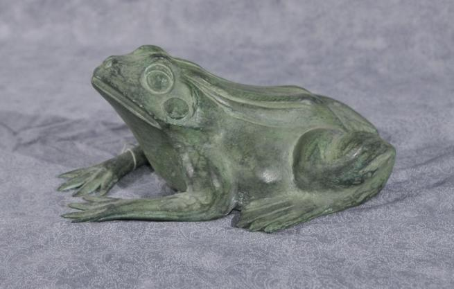 Small Bronze Frog Fountain Garden Water Feature Toad