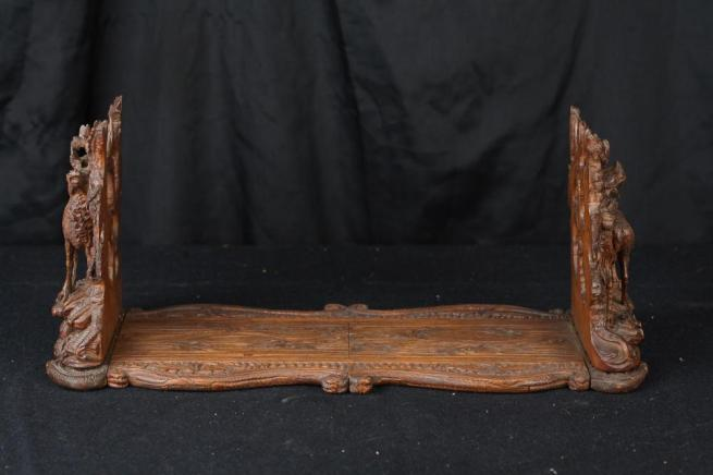 Antique Black Forest Hand Carved Deer Bookstand