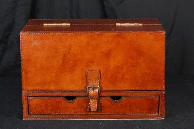 Leather Bond Box Letter Writing Desk Stationary Set Campaign Steamer Trunk