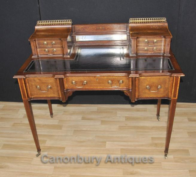 Antique Edwardian Carlton House Desk Writing Table 1910