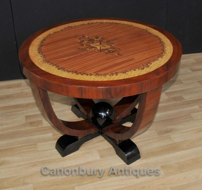 Art Deco Round Side Table Cocktail Tables Furniture
