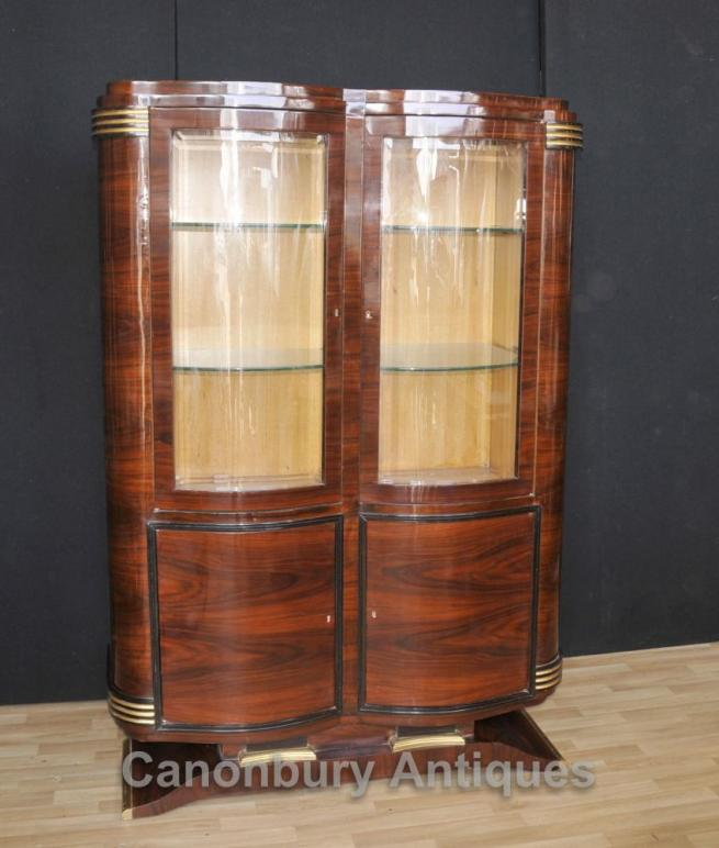 Big Art Deco Cabinet Display Bookcase 1920s Vintage Interiors
