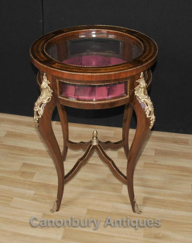 French Empire Jewellery Cabinet Bijouterie Side Table