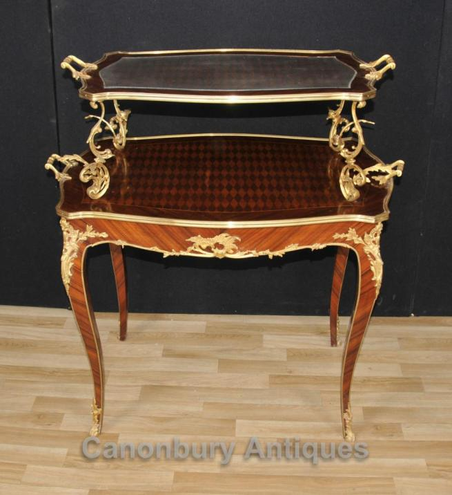 French Empire Tiered Pastry Hall Table Parquetry Furniture
