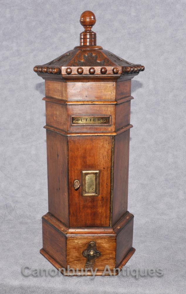 Mahogany English Post Box Cabinet Letter Box Eastern