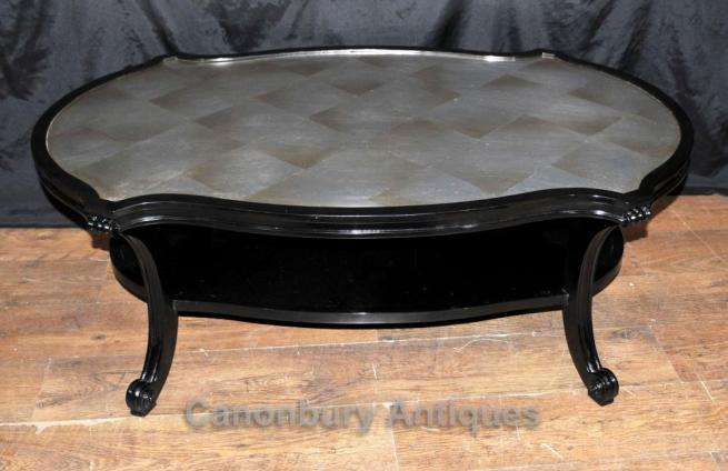 Regency Black Lacquer Coffee Table Furniture Interiors