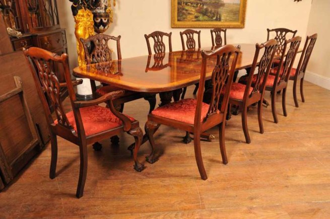 16ft Regency Pedestal Dining Table Mahogany Diner Tables