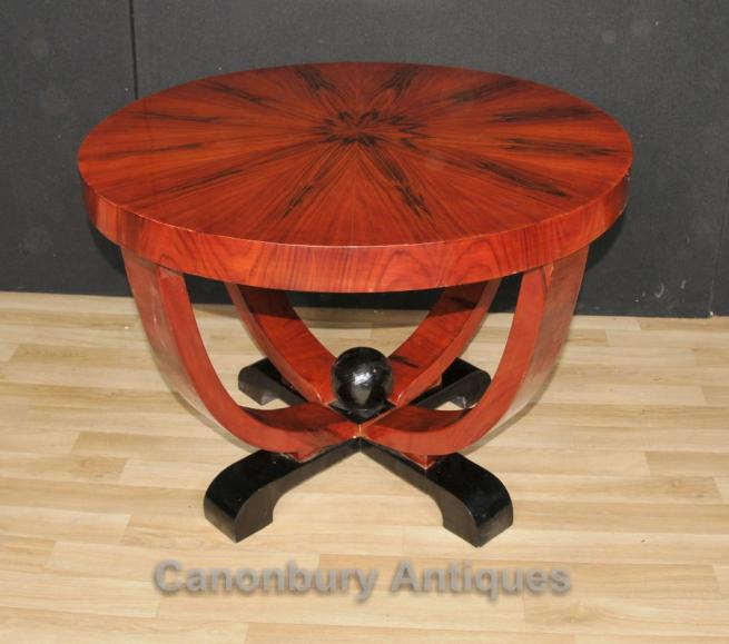Art Deco Round Side Table Rosewood Coffee Tables Vintage Furniture