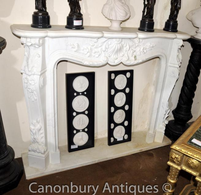 French Regency Marble Fireplace Mantel Stone