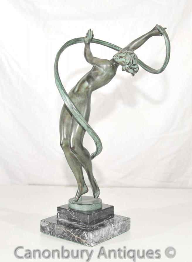 Original Le Faguays Art Deco Bronze Figurine Le Verrier Foundry
