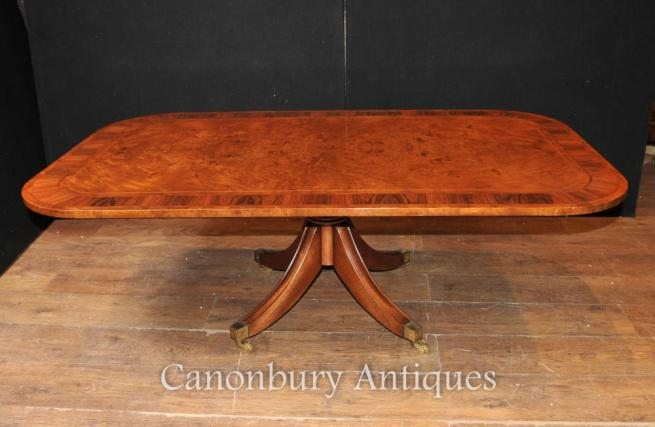 Antique Burr Walnut Coffee Table Dining Tables