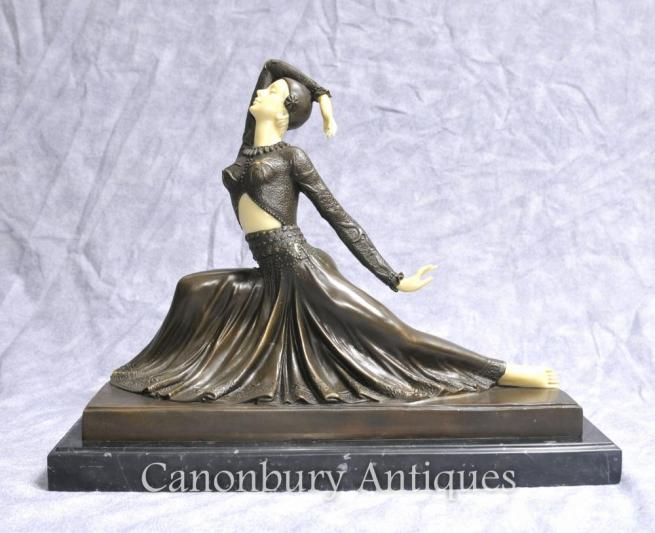 Art Deco Bronze Figurine Clara by Chiparus Statue
