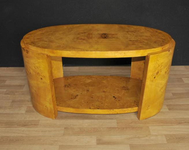Art Deco Coffee Table Blonde Walnut 1920s Interiors