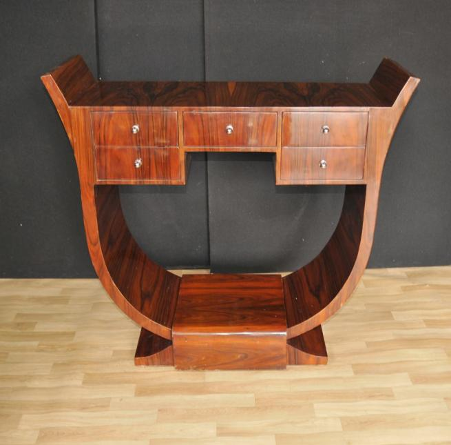 Art Deco Console Table Rosewood Modernist 1920s Furniture
