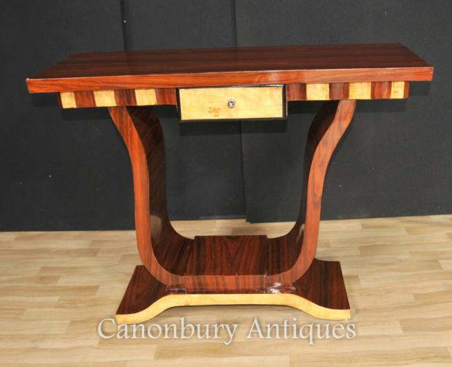 Art Deco Hall Table Console Tables Walnut Furniture Interiors