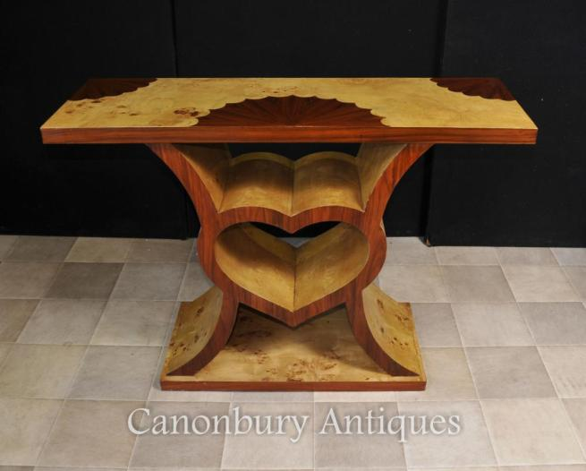 Art Deco Heart Console Table 1920s Modernist Furniture