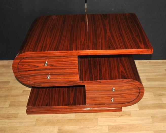 Art Deco S Shape Coffee Table Rosewood Modernist Furniture