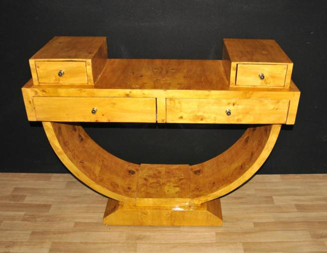 Art Deco Walnut Console Table Vintage Furniture Tables