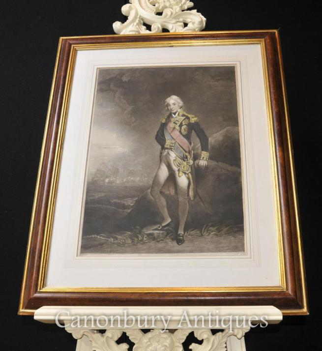 Early Print Admiral Horatio Lord Nelson British Royal Navy