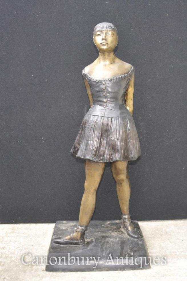 French Bronze Ballet Dancer Statue Degas Ballerina Sculpture