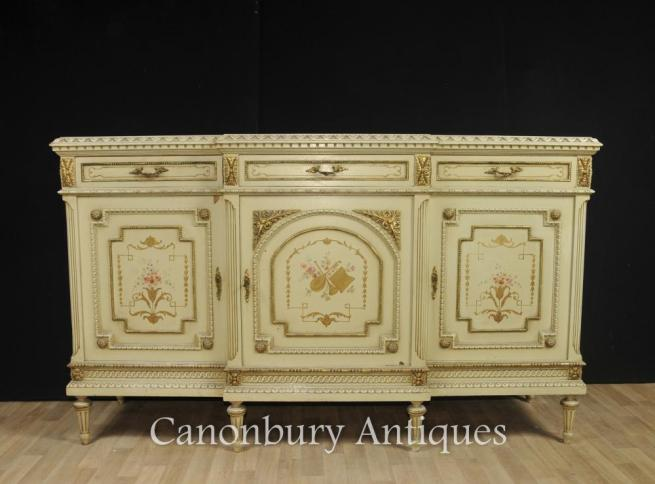 French Classical Painted Cabinet Sideboard Server