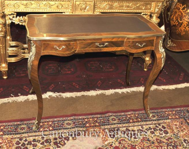 French Empire Desk Bureau Plat Writing Table Kingwood