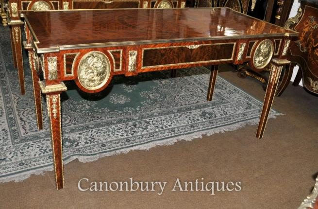 French Empire Desk Writing Table Bureau Plat Kingwood
