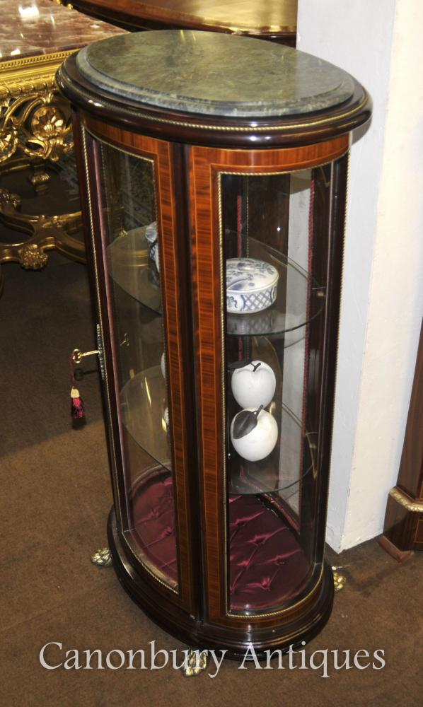 French Empire Glass Jewellery Display Cabinet Bijouterie