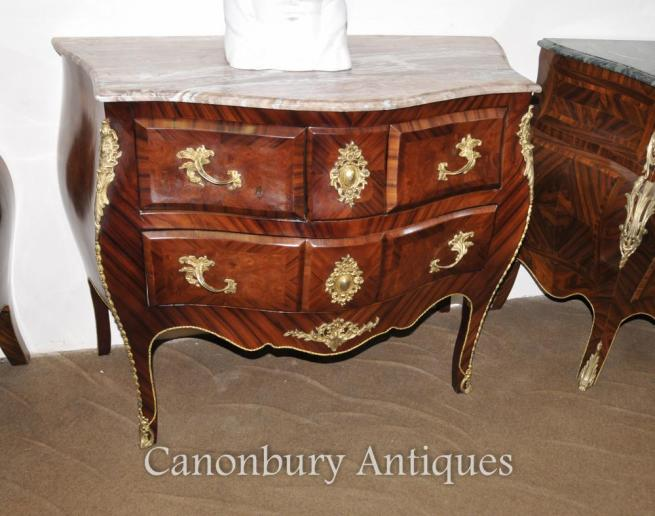 French Louis XVI Bombe Commode Chest Drawers