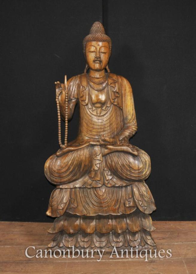 Large Hand Carved Tibetan Buddha Statue Buddhism Tibet Buddhist Sculpture