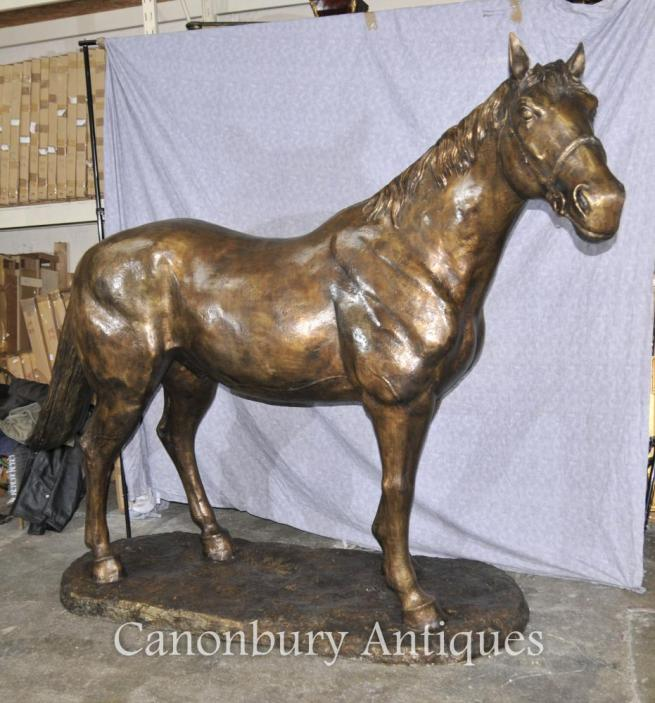 Lifesize French Bronze Horse Statue Architectural Bronze Horses Pony