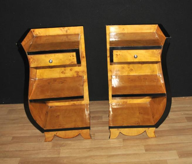 Pair Art Deco Bedside Chests Nightstands 1920s Furniture End Tables