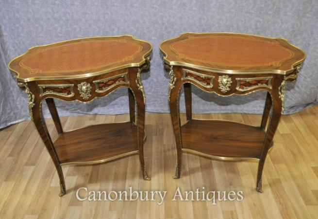 Pair Louis XVI Side Tables Cocktail Table Furniture