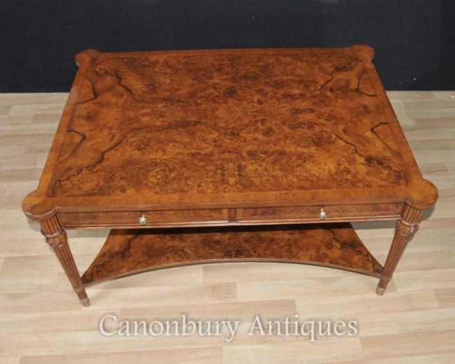 Regency Walnut Coffee Table Partners Tables English Furniture