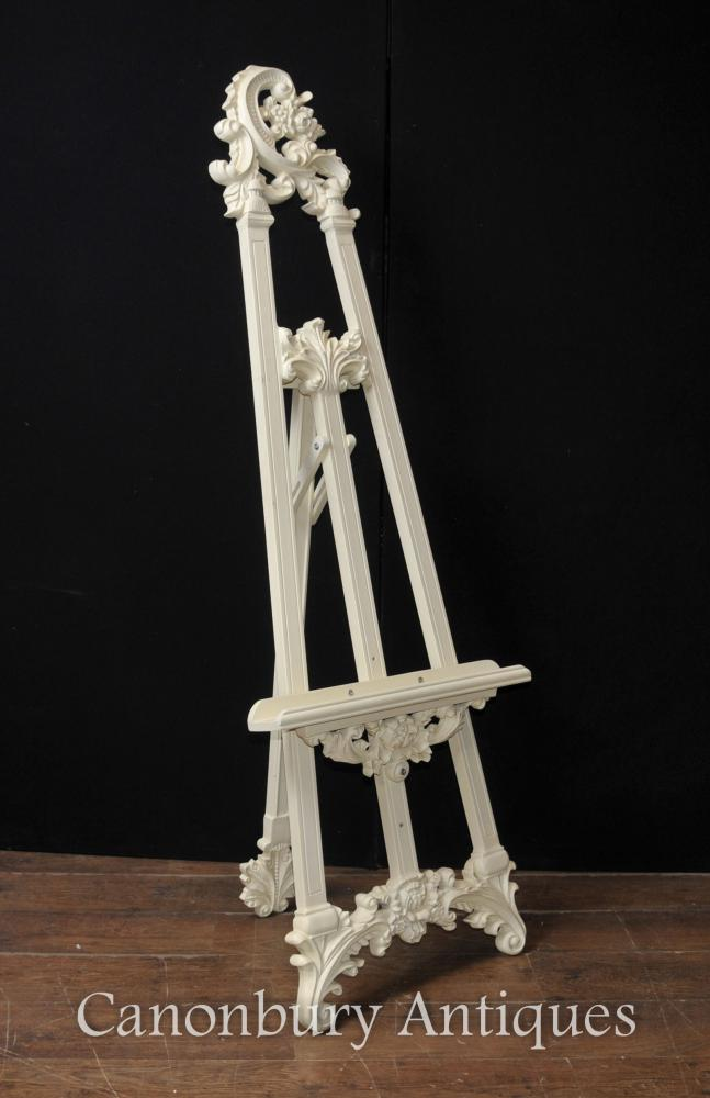 Victorian Painted Easel Painting Stand Artist Architectural