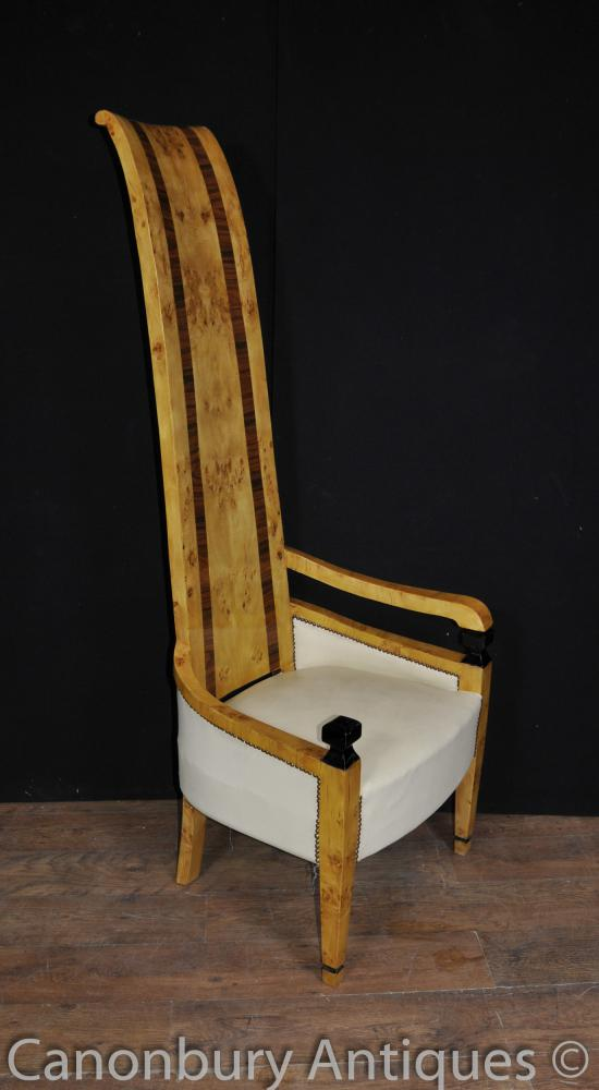 Art Deco High Back Arm Chair Seat Club Chairs