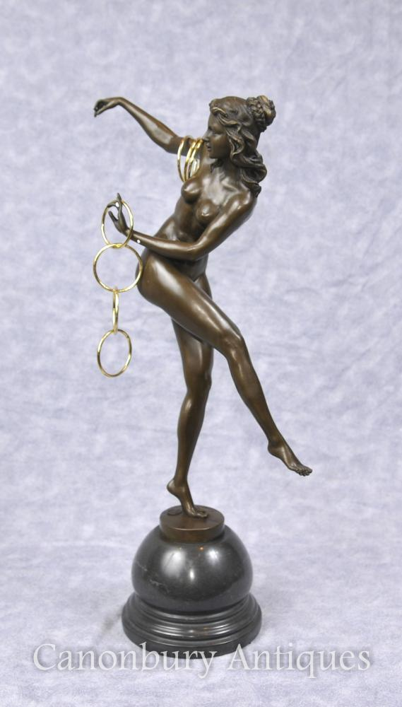 Art Deco Hoop Dancer Figurine by Colinet Statue