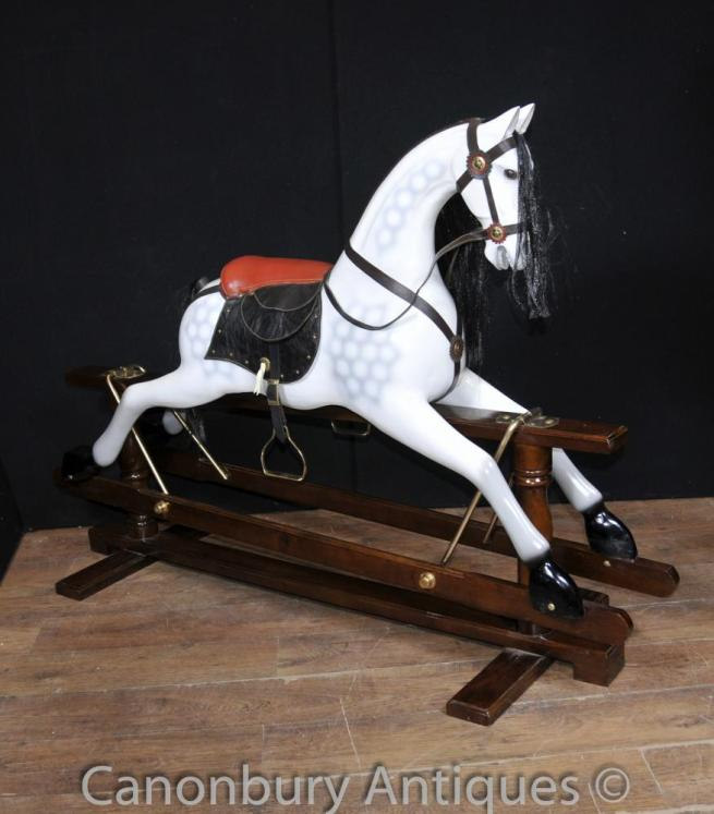 Dappled Grey Rocking Horse Childrens Toy Horses