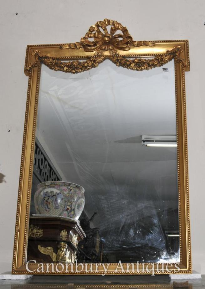 English Adams Gilt Pier Mirror Regency Classical Mirrors