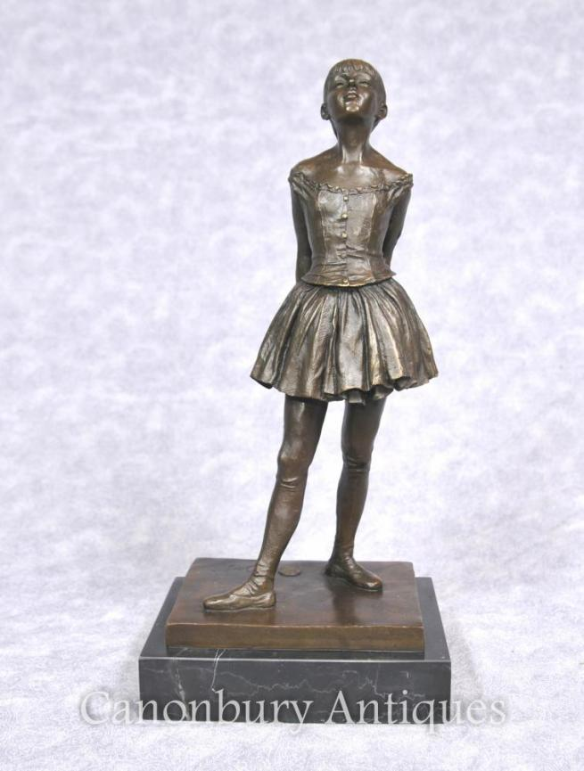 French Bronze Ballet Dancer Statue by Degas Ballerina