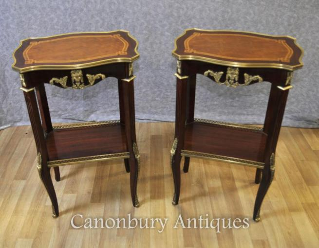 Pair French Empire Side Tables Cocktail Tables Furniture