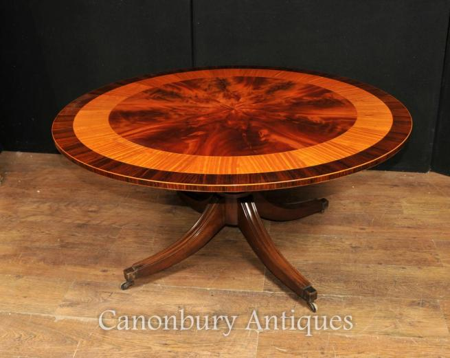 Regency Adjustable Height Coffee Table Centre Mahogany Satinwood Tables