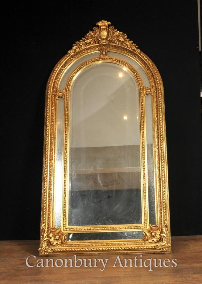Tall Regency Gilt Pier Mirror English Glass Mirrors