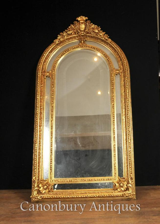 Tall Regency Gilt Pier Mirror English Glass Mirrors