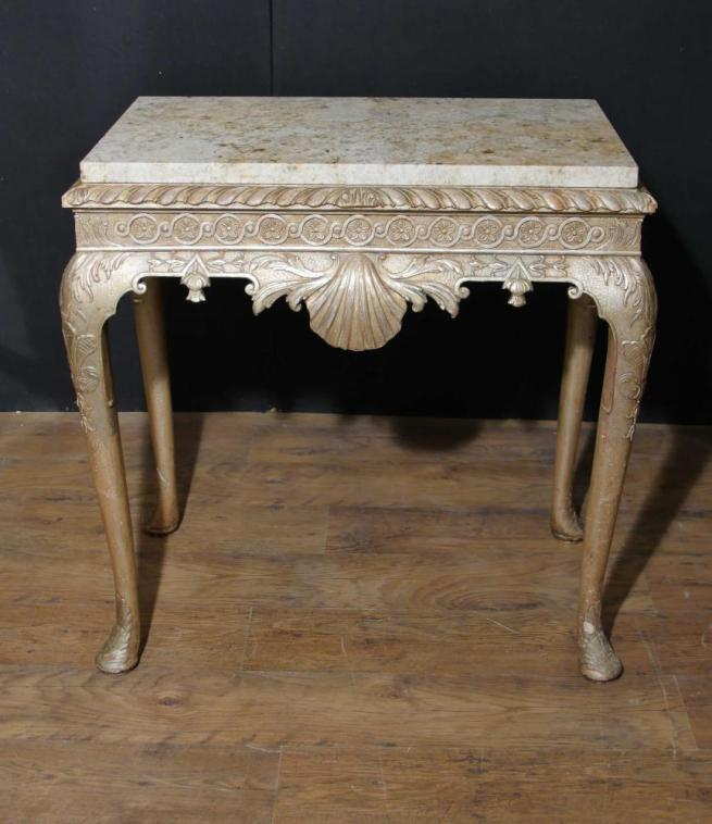 Antique George I Console Table Silver Gilt English Furniture